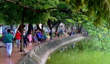 walking around Hoan Kiem Lake, Hanoi, Vietnam