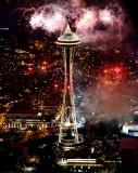 Happy New Year 2013, Space Needle, Seattle, Washington
