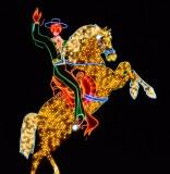 horse and rider neon, Freemont Street, Las Vegas, Nevada