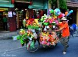 selling plastic flowers, Hoi An, Vietnam