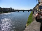 Enjoying River Arno after Uffizi visit
