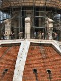 The duomo's viewing area under ugly scaffolding