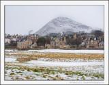 North Berwick Law in the Snow