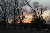 January Sunset at Springton Manor