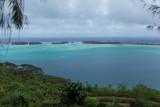 Looking north over the Bora Bora lagoon