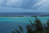Looking west from over the Bora Bora lagoon