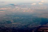 Las Vegas at dawn from 30,000'