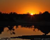 Sunset at Savute 1