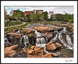Greenville, SC skyline and Reedy Fork Park