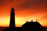 DSC00189.jpg GOLDEN DAWN AT PORTLAND HEAD LIGHT MAINE LIGHTHOUSES DONALD VERGER