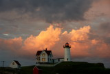 1374!DSC09108.jpg nubble lighthouse at sunset looking east... which do you prefer?????