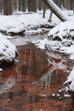 Red brook, snow - Rode spreng, sneeuw