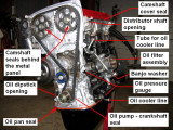 Sources of oil leaks