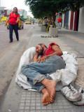 Por sus pies limpios puedo afirmar que su vida en las calles apenas comienza