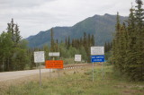 Haul Road signs at Coldfoot
