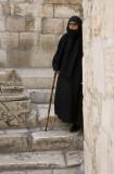 Woman near Church of Holy Sepulcher