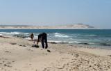 Beach Vendor setting up