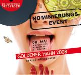 Goldener Hahn 2008, Nominierung und Werbegala