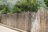 Cerco Tradicional Antiguo Usando Caña de Milpa