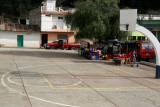 Cancha de Basquetbol al Centro del Poblado