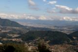 Vista del Valle de Quetzaltenango desde la Ruta a este Municipio
