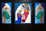 Vitrales a la Entrada de la Iglesia