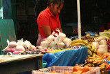 Vendedora en el Mercado Local