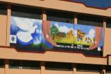 Mural Alusivo a la Paz en el Salon Municipal