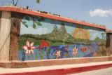 Singular Mural en la Calle al Centro de la Cabecera