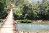 Uno de los Varios Puentes Colgantes Sobre el Rio Cahabon