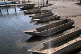 Canoas en la Zona del Muelle