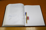 The guestbook of Milia's museum