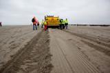 Het rulle zand zorgt voor diepe sporen
