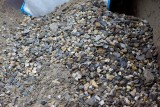 Dit blijft er over na een track door het zand met de zeefmachine