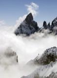 Aig Noire above the clouds