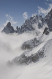 Peutery peaks and clouds