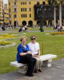Julia and Clara in Lima Square