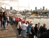 San Francisco Skyline & The ... voyeurs @ Pier 39 !!