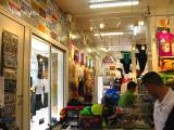 Colorful wide angle tourist shops @ SF Bay