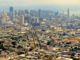 San Francisco. A view from Twin Peaks