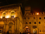 BOLOGNA : Palazzo del Podesta' (left) and Palazzo Re Enzo (right) - The palace was built in 1245