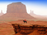 Navajo and hot fog at  Monument Valley: another planet, another time ...