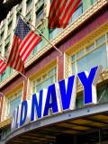Old Navy & Old Glory.  Market St., San Francisco, CA