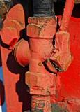 Red manual valve