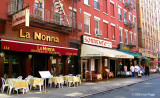 Eating Italian in Little Italy, NYC.