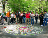 Walk at Central Park: photographer and recalls
