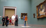 A painter at the Museum