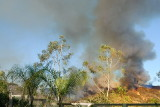 Fire in Trabuco Canyon-viewed from backyard 10-07