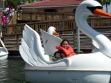 Con mami en el lago