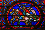 Stained glass of Sainte Chapelle